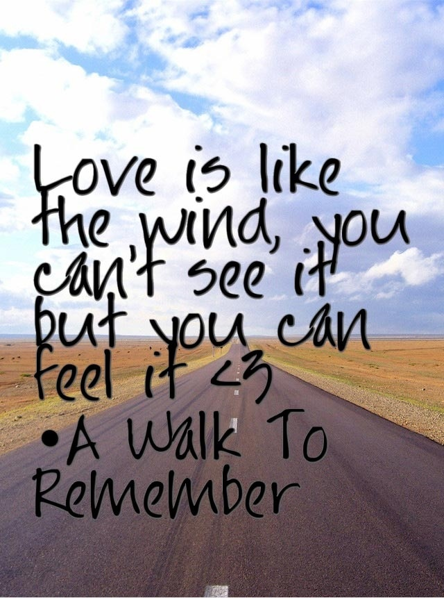 a walk to remember quotes our love is like the wind - photo #17