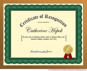How to Create Certificates of Recognition in Microsoft Word: Start With a Template