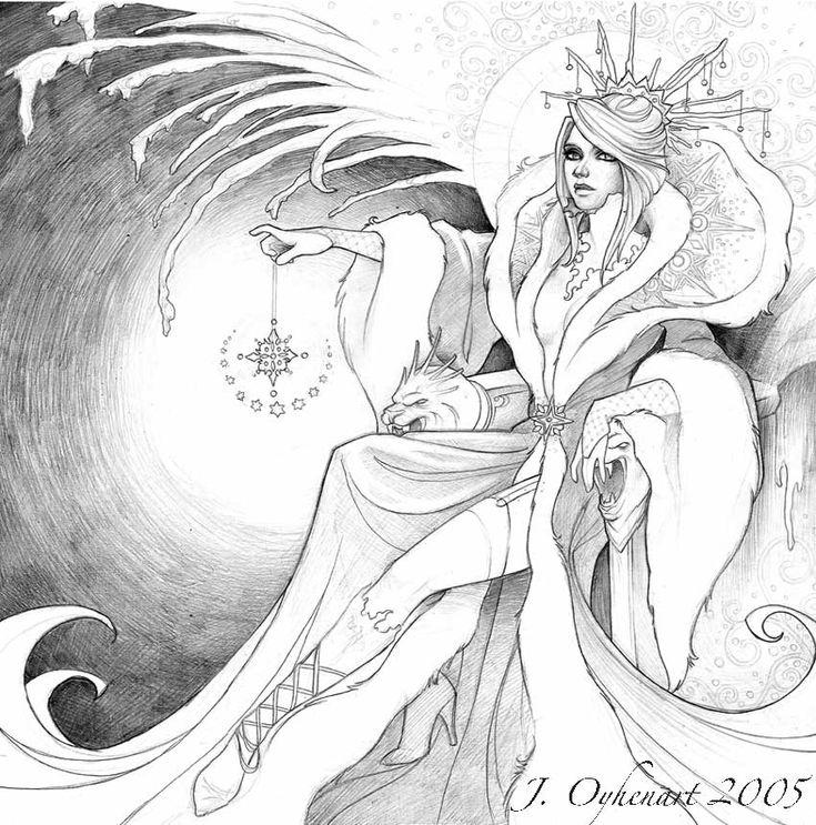 черно белая картинка снежная королева самое лучшее гость