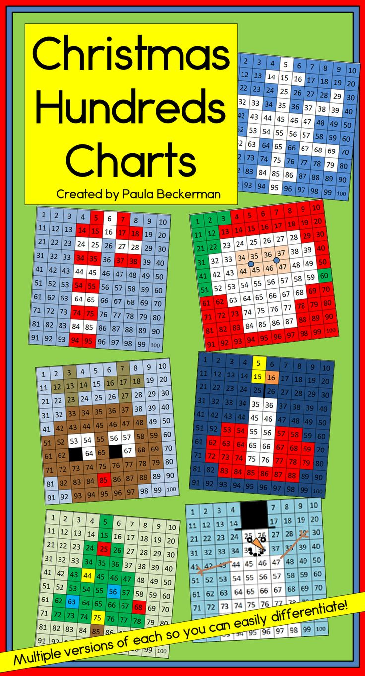 Honderdveld Kerst Christmas Hundreds Charts are a fun and engaging way to get your students reading and writing numbers to 100! There are 7 puzzles to solve: Santa, Rudolph, a snowflake, a Christmas tree, a candle, a candy cane and a snowman. My students beg for these! TpT $