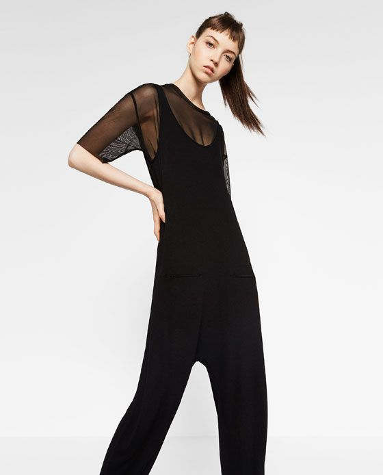 Image 3 of LONG JUMPSUIT WITH POCKETS from Zara