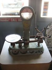 Vintage Brass Detecto Gram Scale Drug Store Candy Store Apothecary