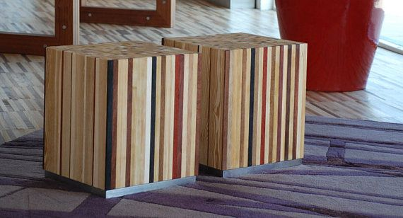 tavolino da salotto o seduta sedia di EbanisteriaCavallaro su Etsy