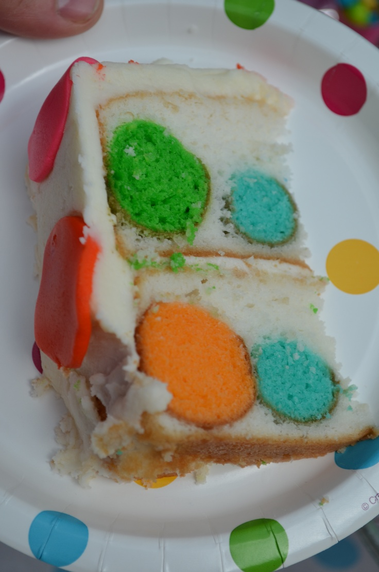 Cake With Icing Baked Inside : 1000+ images about Polka Dot Party on Pinterest Inside ...