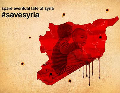 """Check out new work on my @Behance portfolio: """"Save Syria"""" http://be.net/gallery/62599449/Save-Syria"""
