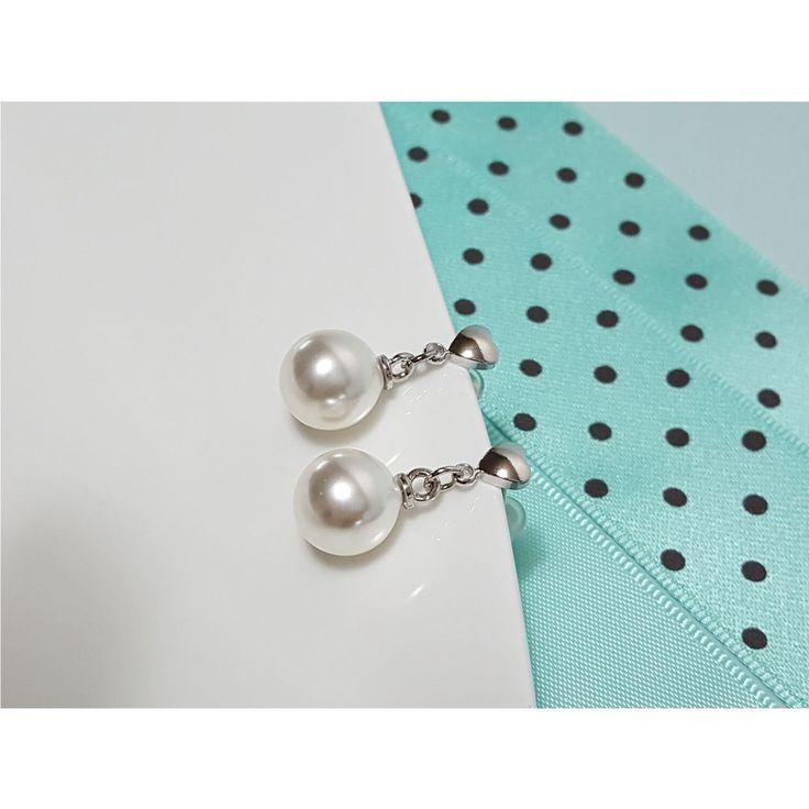 Korean Fashion Jewelry New Silver Post Pearl Earring for Women Girls Ladies #Rielar #Stud