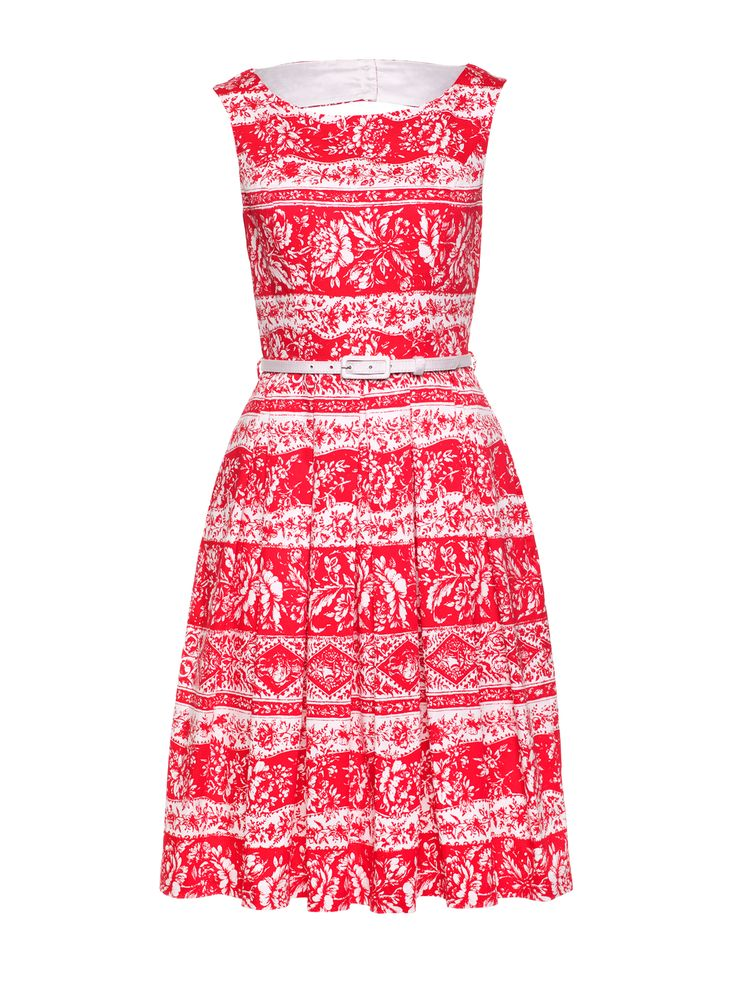 Provence Prom Dress | White And Red | Dress