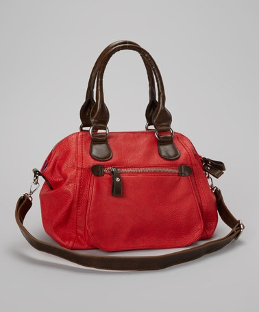 Take a look at this Red Dome Satchel by Punto Uno on #zulily today!
