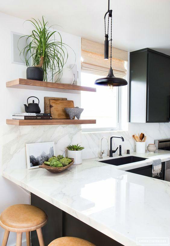 #WinterNägel30 inspirierende weiße Küchen mit feinen Details