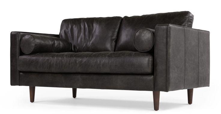 Scott 2 Seater Sofa, Vintage Brown Premium Leather | made.com