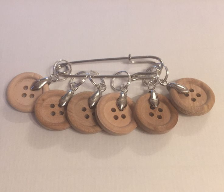 A personal favourite from my Etsy shop https://www.etsy.com/uk/listing/502307599/wooden-button-stitch-markers-stitch