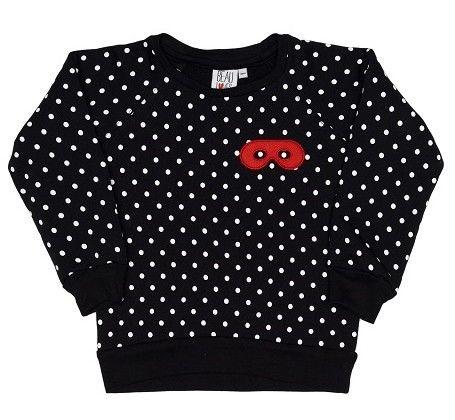 Zwarte trui met stippen - Beau Loves - Collectie meisjes
