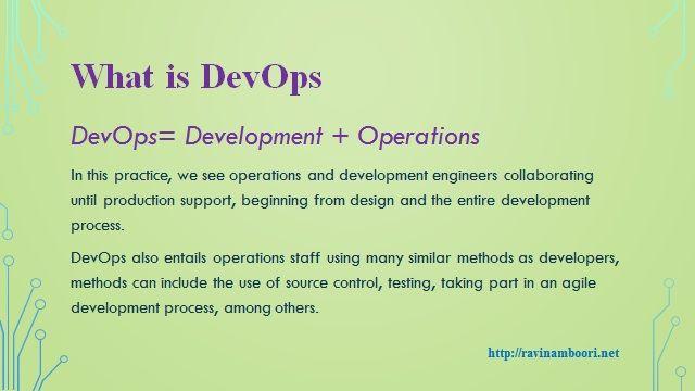 DevOps Presentaion by Ravi Namboori A Cisco Evangelist - Ravi Namboori- An Entrepreneur