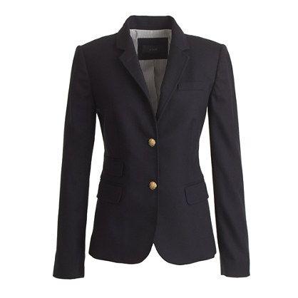 J.Crew - Schoolboy blazer in navy | brass buttons for the classic prep school look - I ♥ it!