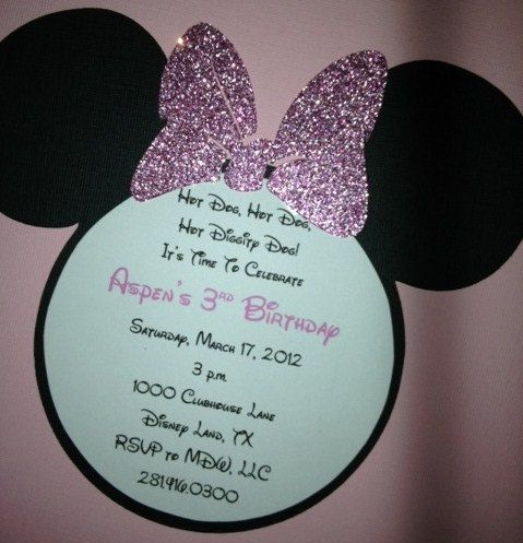 Hey, I found this really awesome Etsy listing at https://www.etsy.com/listing/201372602/minnie-mouse-invitations