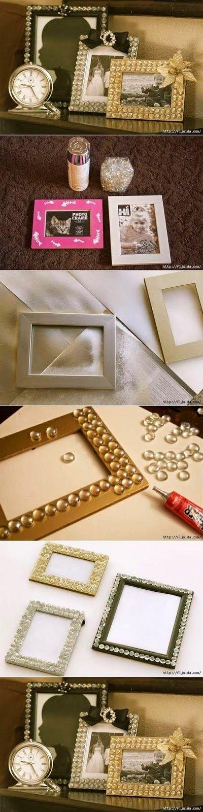 Porta-retrato perolado - DIY - Faça você mesmo | Creative