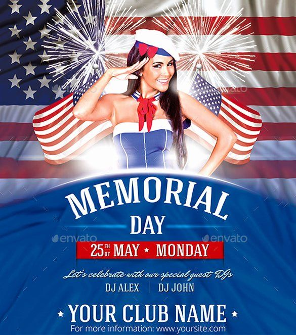 Memorial Flyer Template Free Fresh 12 Memorial Day Psd Flyer Templates Designs Free Business Card Templates Psd Flyer Templates Template Design