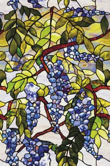 Window Films Wisteria Stained Glass Window Film
