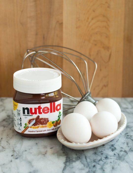 How To Make 2-Ingredient Nutella Brownies