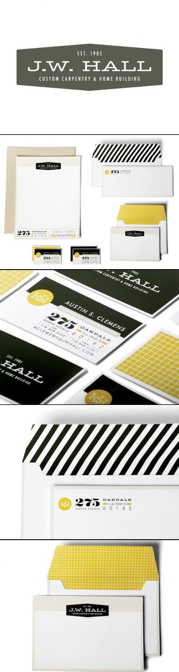 J.W. Hall Builders | Abby Brewster | #stationary #corporate #design #corporatedesign #identity #branding #marketing < repinned by www.BlickeDeeler.de | Take a look at www.LogoGestaltung-Hamburg.de