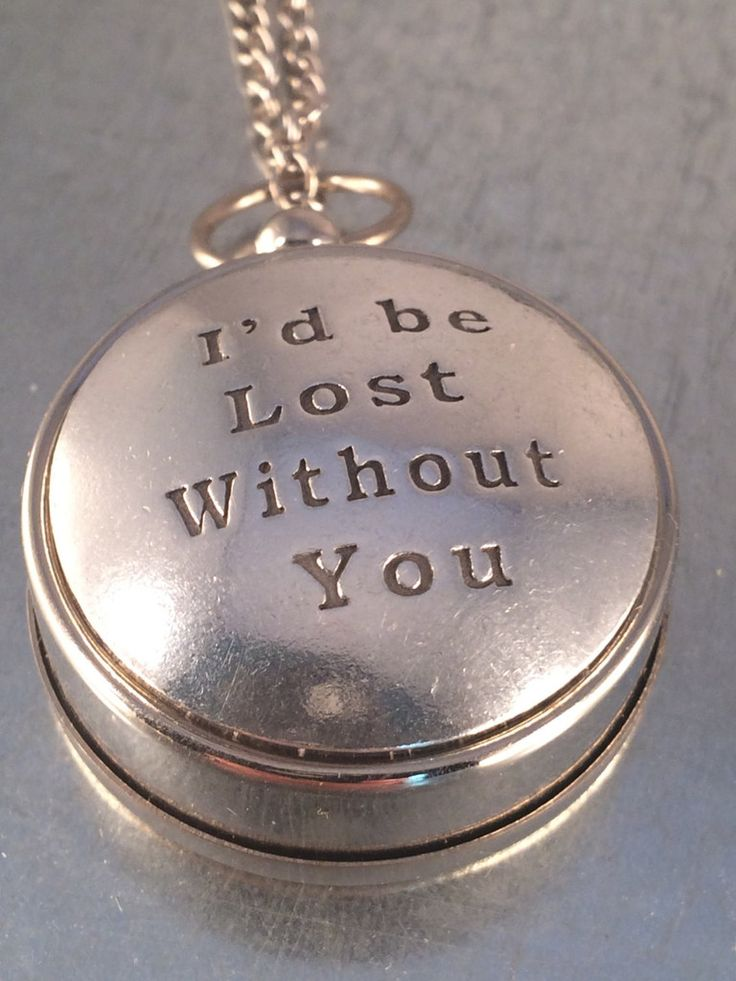 I'd Be Lost Without You Working Compass, Open Face Compass, Compass, Necklace, Graduation Gift, Travel Gift