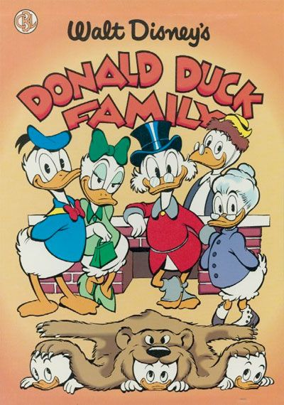 An illustration of the Donald Duck family by Carl Barks