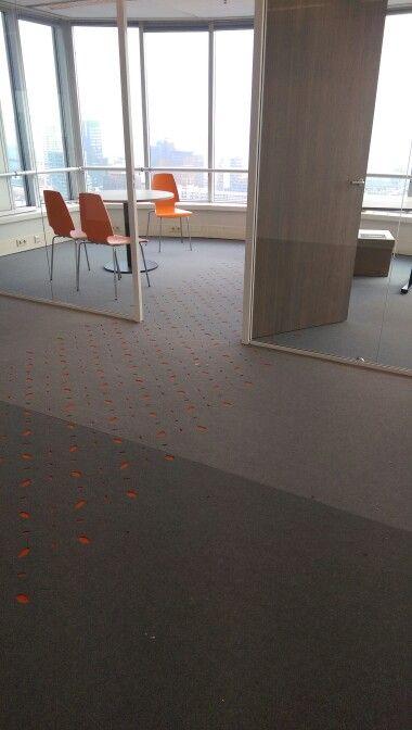 Donkersloot | Fine vilt in combinatie met Vilt inlays in het kantoor van VStep in Rotterdam