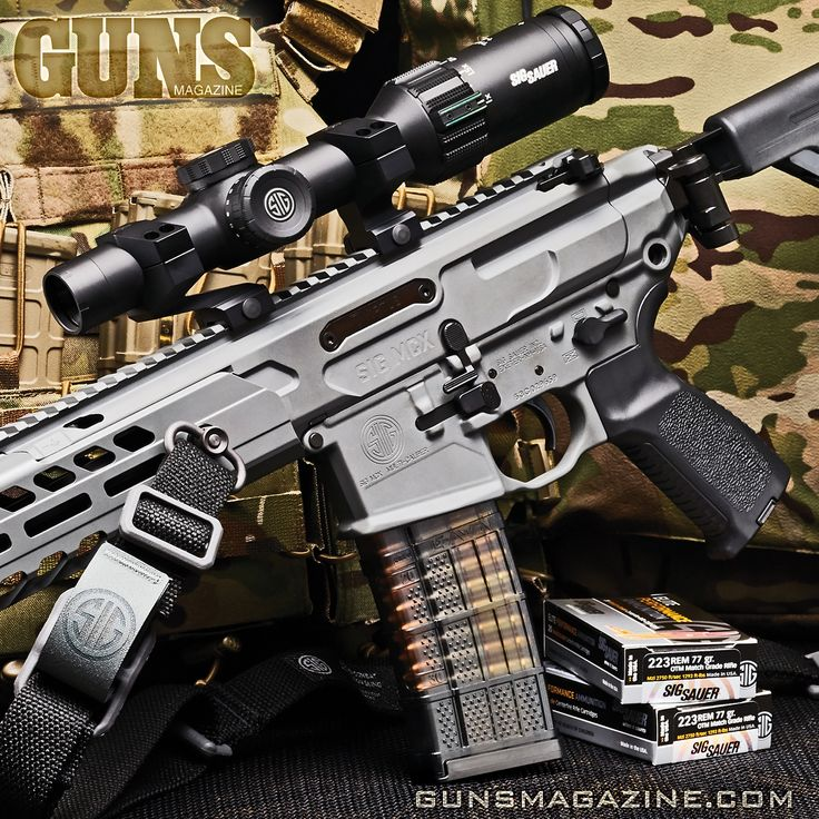 Almost NOT an AR rifle.  SIG re-imagines Stoner's legendary black rifle -- the MCX Virtus Patrol Rifle.  More in the April 2018 issue of GUNS Magazine.  ##sigsauer #virtus #righttobeararms #2a #igmilitia #gunstagram #556 #223 #merica #madeinamerica