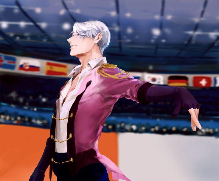 Anime Yuri!!! On Ice  Victor Nikiforov Fondo de Pantalla https://wall.alphacoders.com/big.php?i=770699&lang=Spanish
