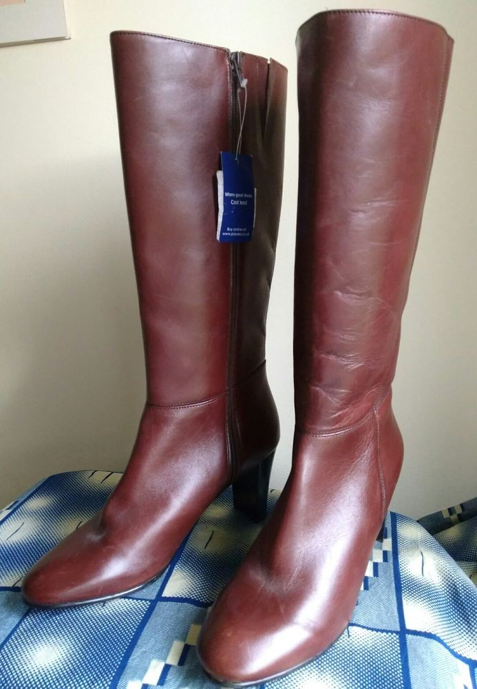 Womens boots uk, Brown knee high boots