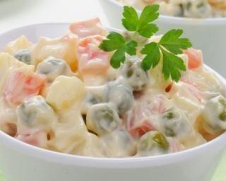 Salade piémontaise light sans mayonnaise : http://www.fourchette-et-bikini.fr/recettes/recettes-minceur/tomates-farcies-light-crevettes-et-crudites-cote-buffet-froid.html