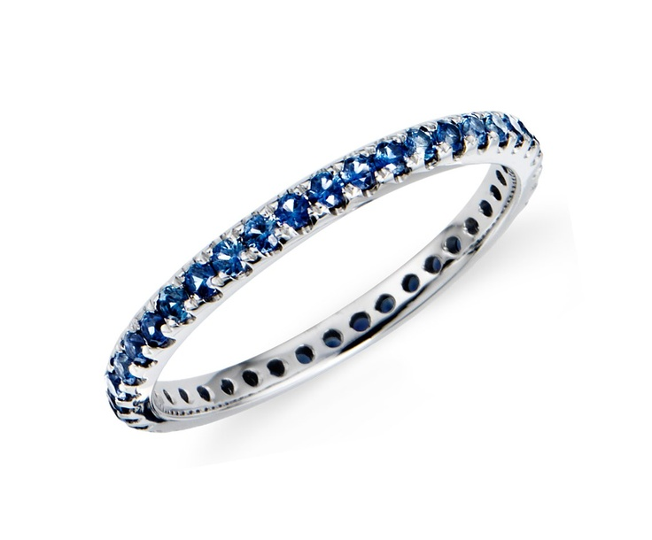 Sapphire Eternity Ring  in 18k White Gold 540.00