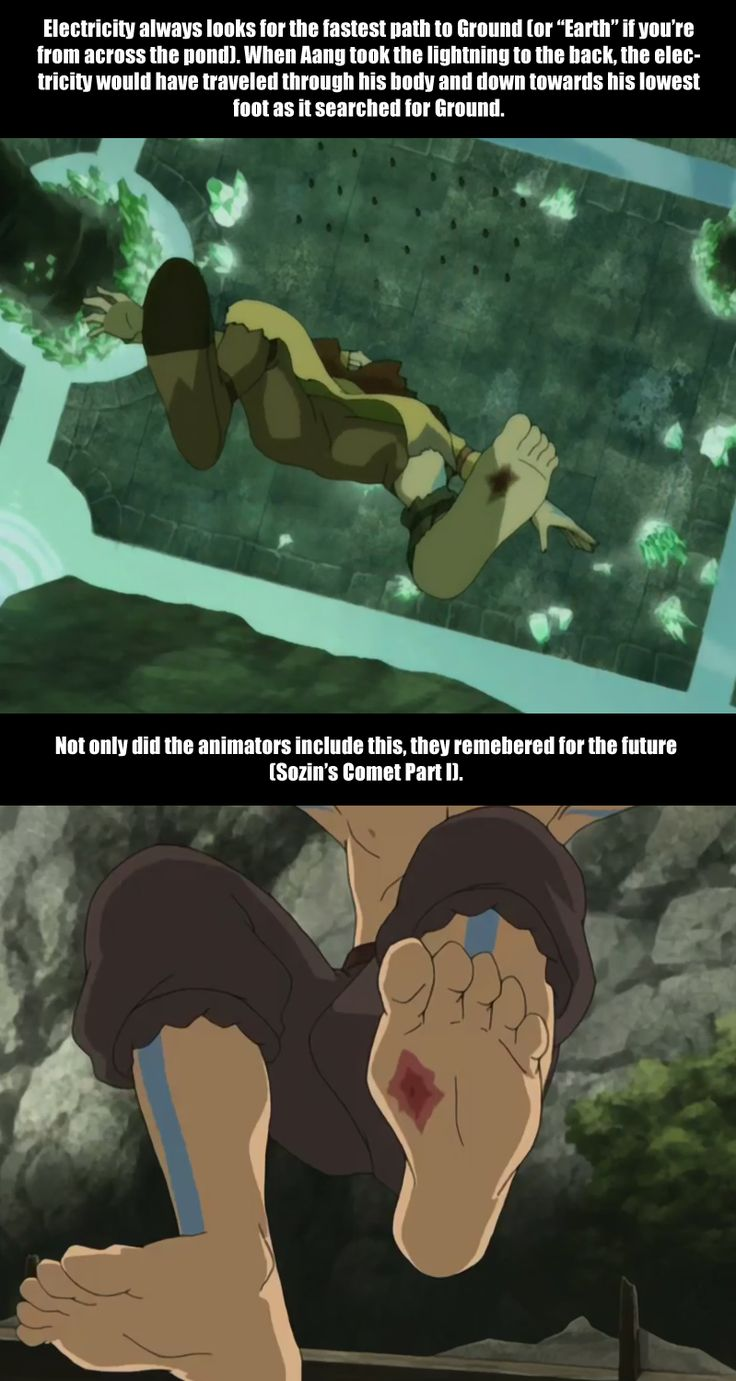 I noticed this when I watched it and I was so impressed - Aang's Lightning scars