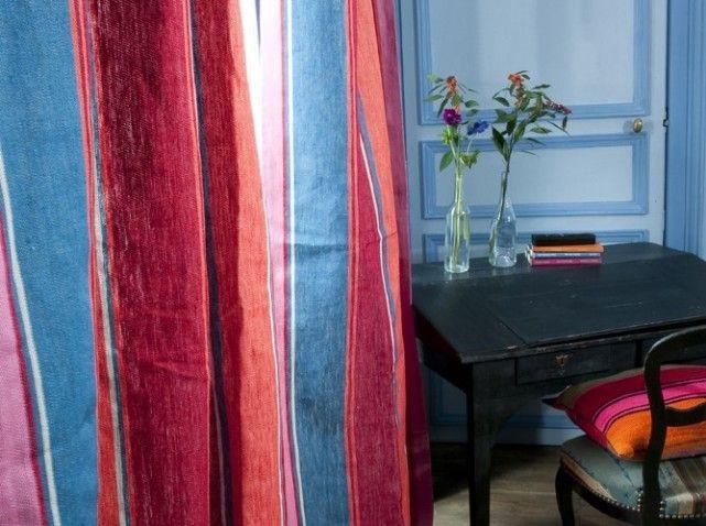 les 25 meilleures id es de la cat gorie rideaux rayures sur pinterest rideaux blancs noirs. Black Bedroom Furniture Sets. Home Design Ideas
