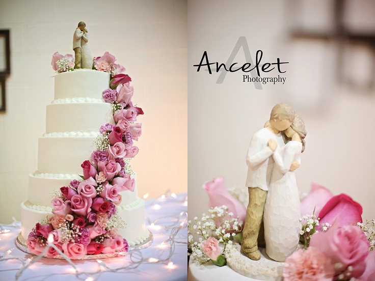 Love the willow tree cake topper!!! i'd just want the flowers in my colors and perhaps some scrolls or embellishment on the cake's tiers...