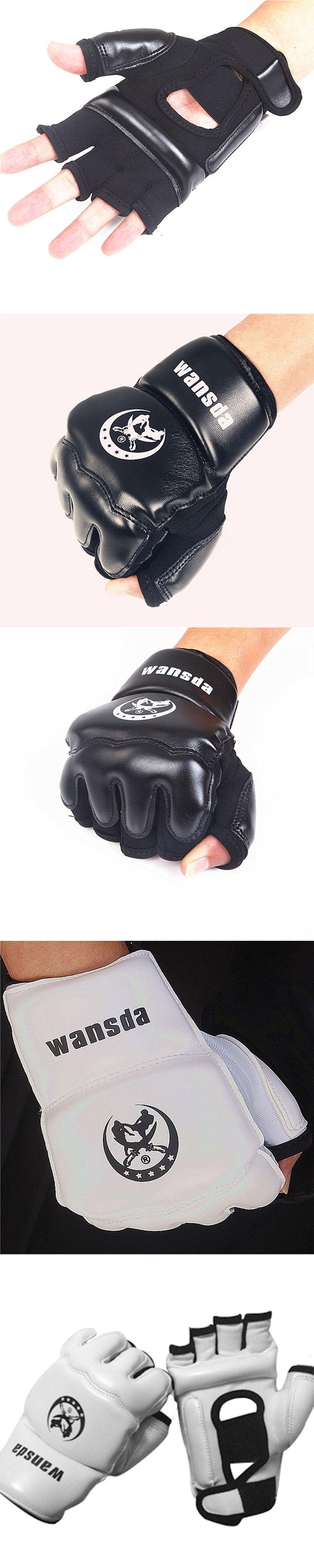 Adults/Kids Half Fingers Boxing Gloves Mitts Sanda Karate Sandbag Taekwondo Protector For Boxeo MMA Punch