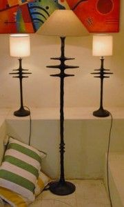 Group of Spine Table Lamps by Trevor Opperman. For more please visit: www.finearts.co.za