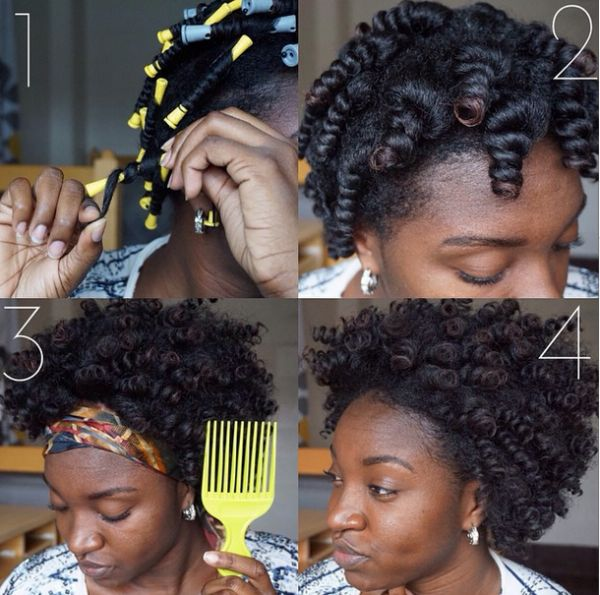 Library of pictorials on how to style your natural hair.