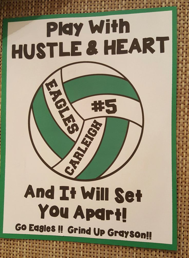 Year 2 - Volleyball Locker Decoration for my daughter's team