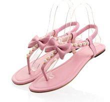 Verde + rosa + viola + bianco Big Size 31 ~ 45 Nuovi sandali gladiatore 2016 donne Fiore Piatto Flip-flop appartamenti Scarpe donna zeppe(China (Mainland))