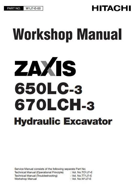 Original Illustrated Factory Workshop Service Manual for Hitachi Hydraulic Excavator Type Zaxis 650.Original factory manuals for Hitachi Excavator Mashines, contains high quality images, circuit diagrams and instructions to help you to operate and repair your truck. All Manuals Printable, contains