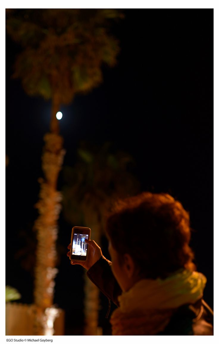 Minaret, the palm and moon. Taken in the ancient city of Caesarea in Israel.