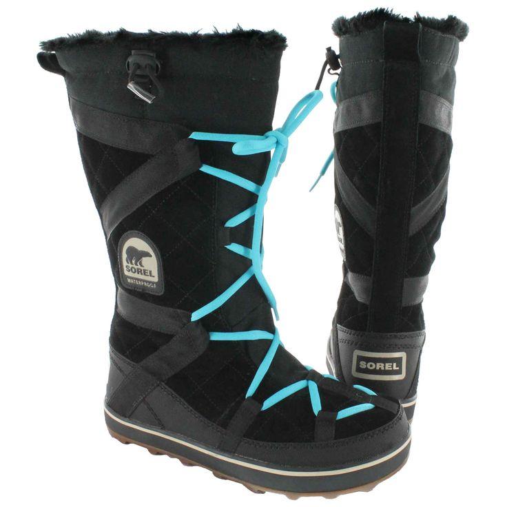 Sorel Women's GLACY EXPLORER black winter boots 1511511-010