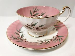 Pink Aynsley Tea Cup and Saucer English Bone China Cups