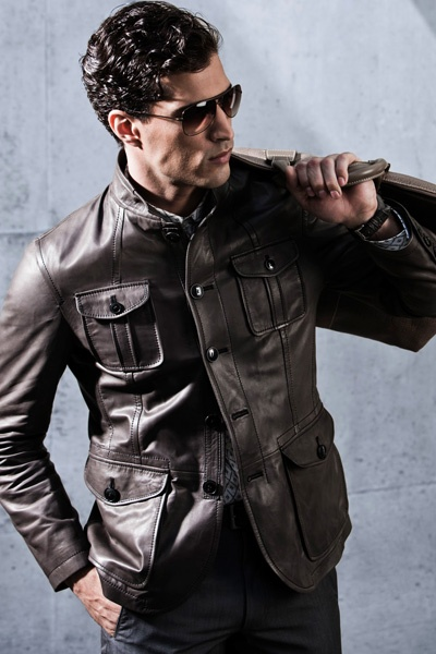 Armani Leather Jacket...something I'll never be able to wear because of my long arms