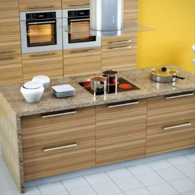 Our Zebrawood Veneer Cabinet Doors In Horizontal Grain Orientation Bring An Organic F Modern Kitchen Furniture Replacing Kitchen Cabinets Custom Cabinet Doors