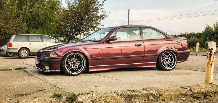 BMW e36 coupe on OEM BMW 18'' Style 65 wheels