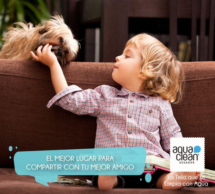 Déjalos que compartan momentos juntos, Aquaclean Ecuador se encarga de proteger tus muebles. Son telas inteligentes que se limpian con agua en pocos segundos. Encuéntranos con tu diseñador de interiores favorito o en tu tienda de muebles de preferencia.