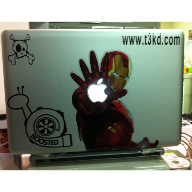 I added a little more flavor to my MacBook Pro. I wonder what Steve Jobs' would say? lol