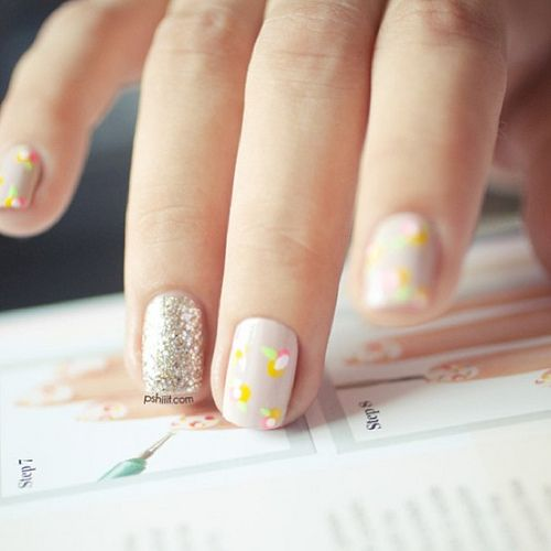 prom nails pshiiitNails Art Ideas, Nails Design, Floral Design, Nails Colors, Summer Style, Colors Nails, Summer Nails, Nails Ideas, Of Nails